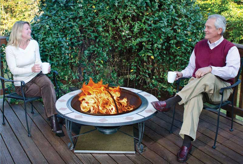 Using A Fire Pit On Your Deck Or Patio