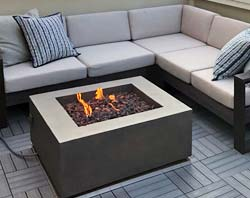 Rooftop Fire Table with Custom Deck Protect