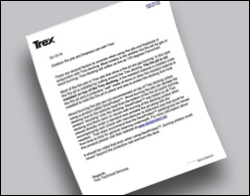 Trex Technichal Data Sheet Recommending DeckProtect
