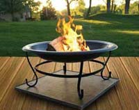Use A Fire Pit On Your Composite Deck